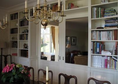 Kamer en suite boekenkast